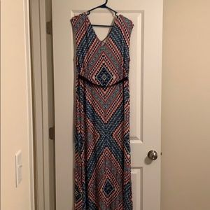 Pink and blue Jessica Simpson maternity dress